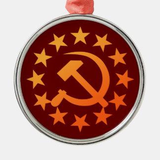 Soviet 3 metal ornament