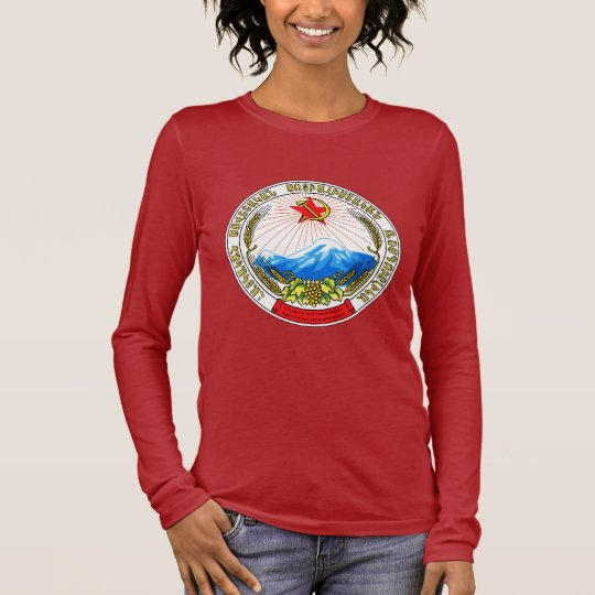 Soviet Armenia Coat of Arms Long Sleeve T-Shirt