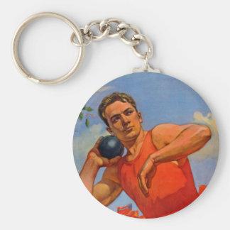 Soviet Athletic Propaganda Keychain