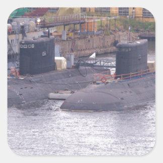 Soviet Attack Submarines Square Sticker