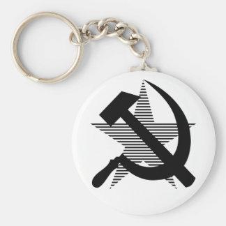 Soviet Black Hammer & Sickle Keychain