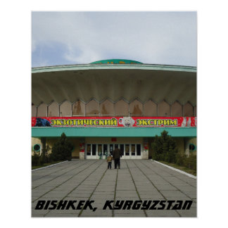 Soviet Circus, Bishkek Frunze, Kyrgyzstan Poster