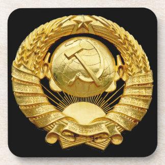 Soviet/Communist War Memorial Badge, Berlin, Germa Drink Coaster