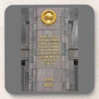 Soviet/Communist War Memorial Plague,Berlin(1) Drink Coaster