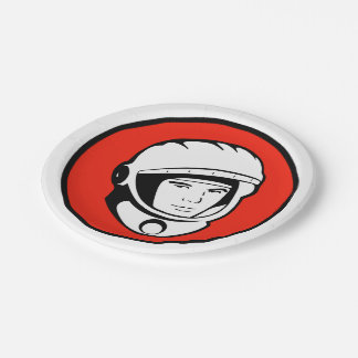 Soviet Cosmonaut Paper Plates