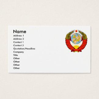 Soviet Emblem Business Card