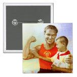 Soviet Exercise Propaganda Pins