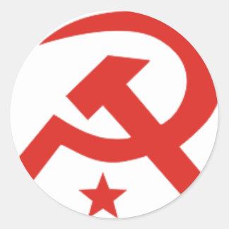Soviet hammer and sickle design stickers