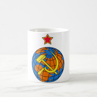 Soviet Hammer & Sickle and Earth Coffee Mug