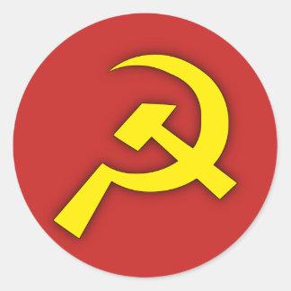Soviet Hammer & Sickle Classic Round Sticker