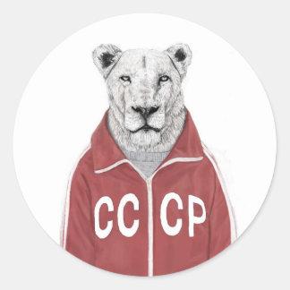 Soviet lion classic round sticker
