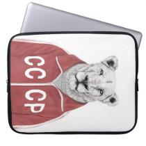 Soviet lion laptop sleeve