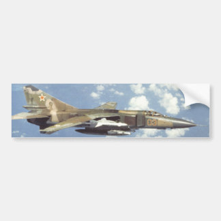 Soviet MiG-23 Flogger Car Bumper Sticker