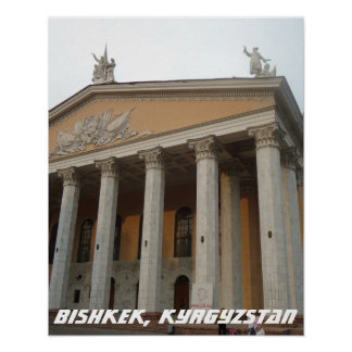 Soviet Opera House, Bishkek Frunze, Kyrgyzstan Poster
