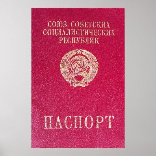 Soviet passport poster