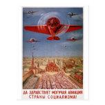 soviet plane postcard