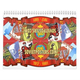 Soviet posters calendars