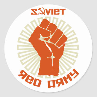 Soviet Red Army Coat of Arms Round Sticker