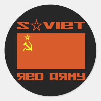 Soviet Red Army Flag Round Sticker