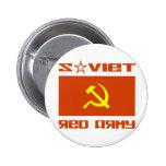Soviet Red Army Hammer & Sickle Pinback Button