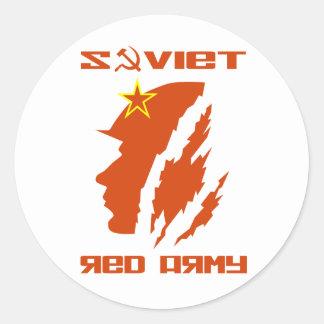 Soviet Red Army Soldier Round Sticker