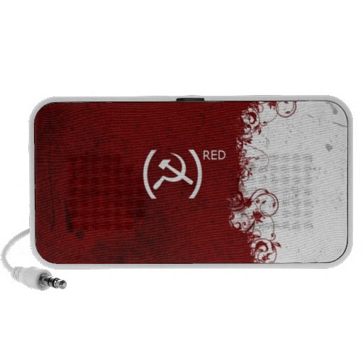 Soviet rojo abstracto de URSS Mp3 Altavoces