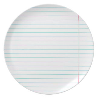 SOVIET RULED LINED PAPER PLATE
