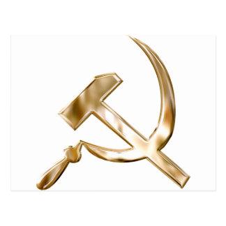Soviet Russia Symbols серп и молот Postcard