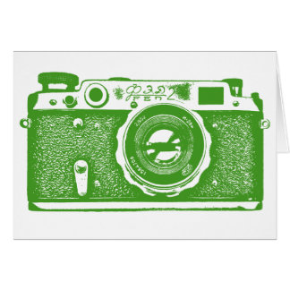 Soviet Russian Camera - Avocado Card