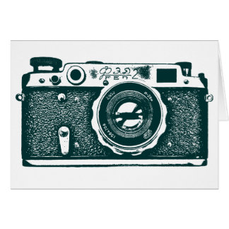 Soviet Russian Camera - Dark Green Card