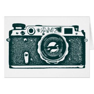 Soviet Russian Camera - Dark Green Card