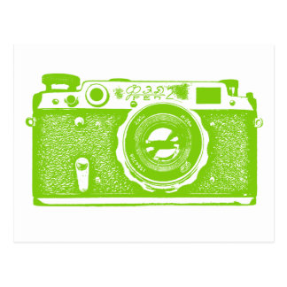 Soviet Russian Camera - Martian Green Postcard