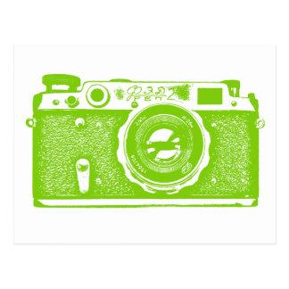 Soviet Russian Camera - Martian Green Postcard