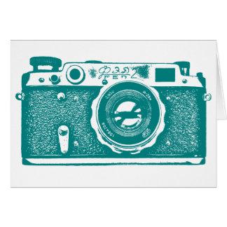 Soviet Russian Camera - Med Dk Cyan Stationery Note Card