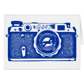 Soviet Russian Camera - Navy Blue Card