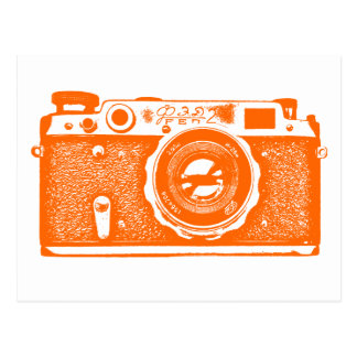 Soviet Russian Camera - Orange Postcard