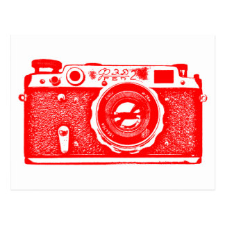 Soviet Russian Camera - Red Postcard