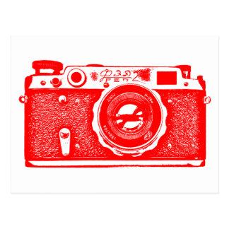 Soviet Russian Camera - Red Postcard