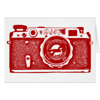 Soviet Russian Camera - Ruby Red Card