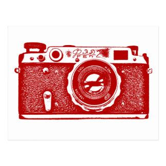 Soviet Russian Camera - Ruby Red Postcard