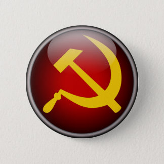 Soviet Russian Hammer and Sickle Pinback Button