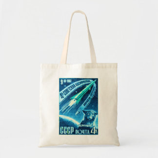 Soviet Space Dog Budget Tote Bag