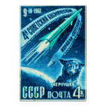 Soviet Space Dog Poster