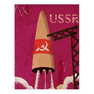 Soviet Space Program USSR Vintage Poster Postcard