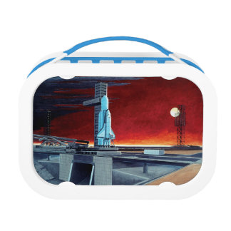 Soviet Space Shuttle Full Moon Launchpad Concept Lunch Box