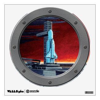 Soviet Space Shuttle Porthole Room Sticker