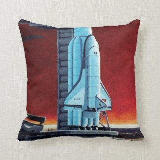 Soviet Space Shuttle Throw Pillow