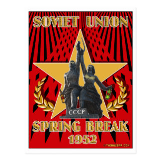 Soviet Spring Break 1952 Travel Postcards