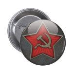 Soviet Star Hammer and Sickle Pinback Button