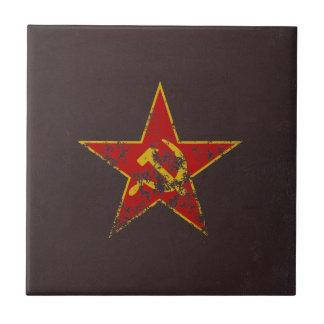 Soviet Star Vintage Tile